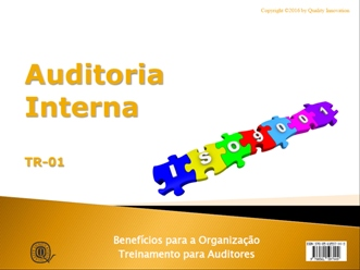Auditoria Interna para a ISO 9001:2015  - www.qualistore.net.br