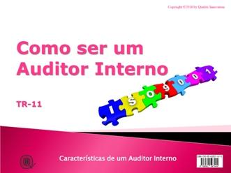 Como ser um Auditor Interno da ISO 9001  - www.qualistore.net.br