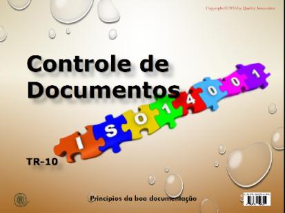Controle de Documentos na ISO 14001  - www.qualistore.net.br