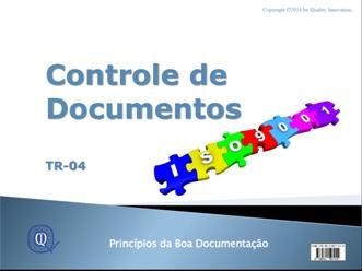 Controle de Documentos na ISO 9001  - www.qualistore.net.br