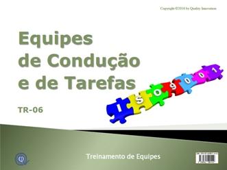 Equipes de Condução e de Tarefas na ISO 9001:2015  - www.qualistore.net.br