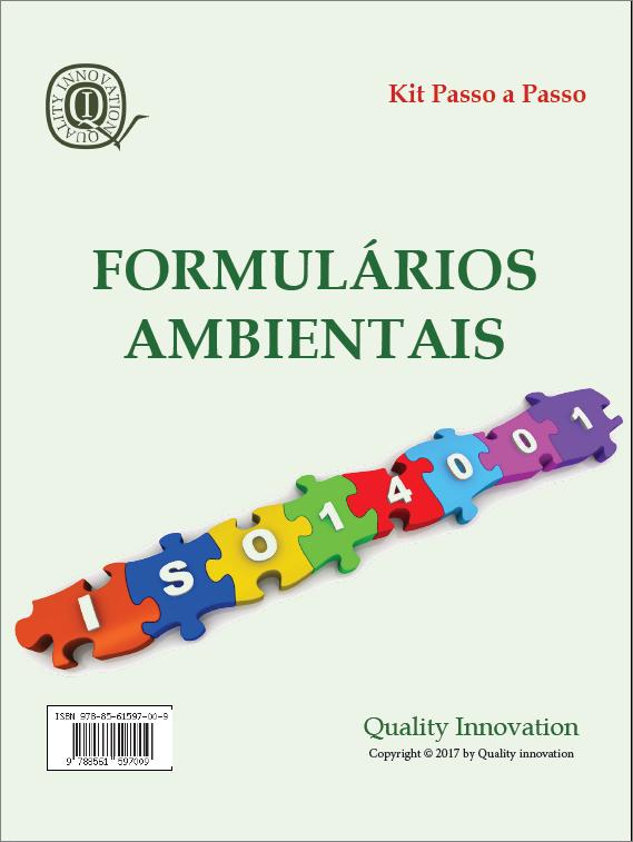 Formulários Ambientais da norma ISO 140012015  - www.qualistore.net.br