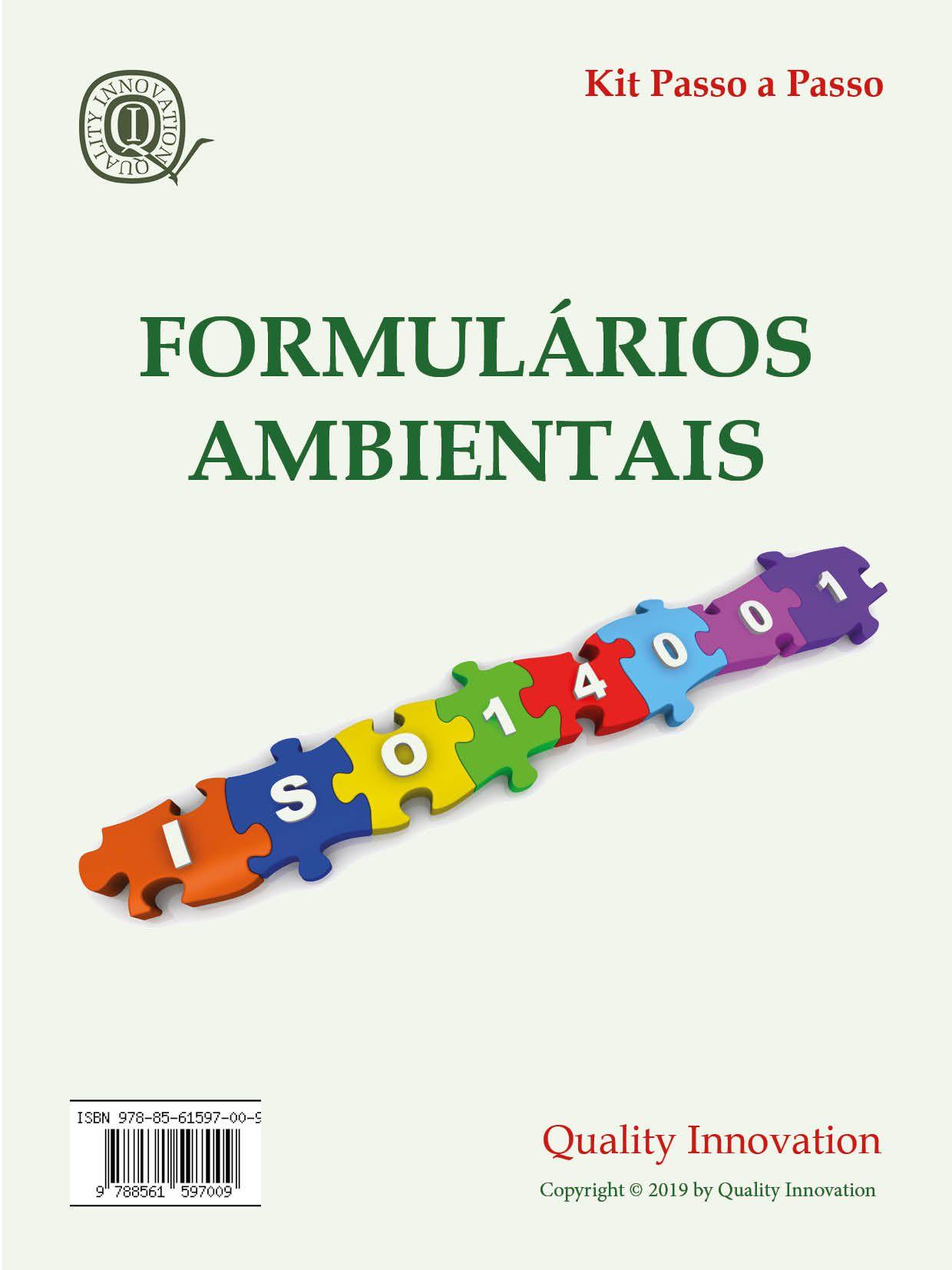 Formulários Ambientais da norma ISO 14001  - www.qualistore.net.br