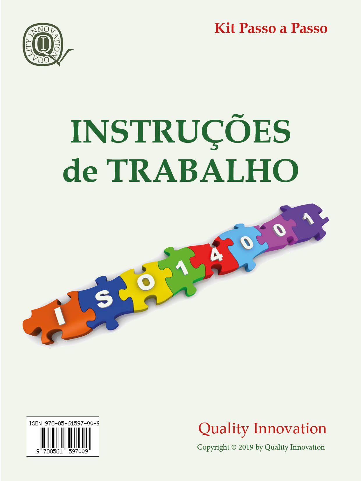 Instruções de Trabalho para a ISO 14001  - www.qualistore.net.br