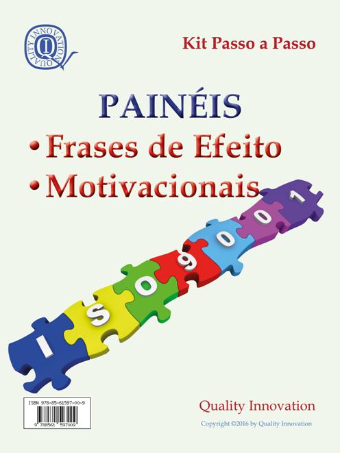 Painéis Motivacionais e de Incentivo da ISO 9001:2015  - www.qualistore.net.br