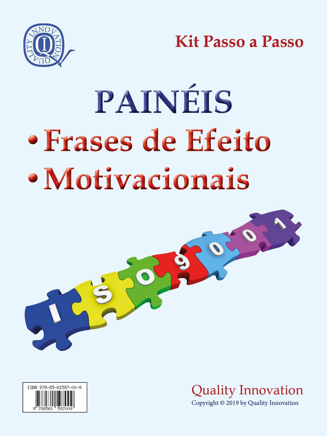 Painéis Motivacionais e de Incentivo da ISO 9001  - www.qualistore.net.br