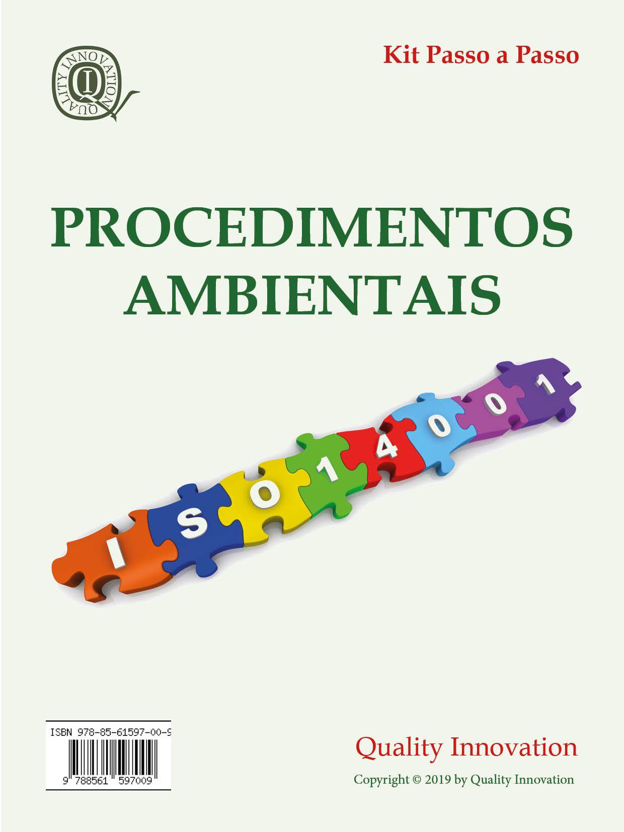 Procedimentos Ambientais da ISO 14001  - www.qualistore.net.br
