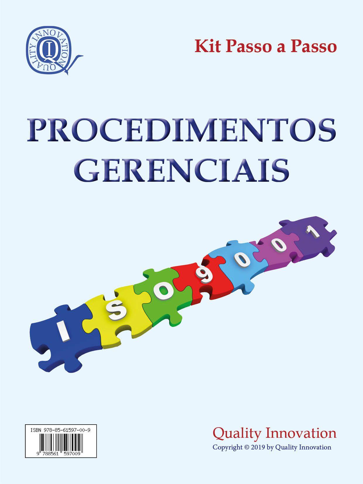 Procedimentos Gerenciais da ISO 9001  - www.qualistore.net.br