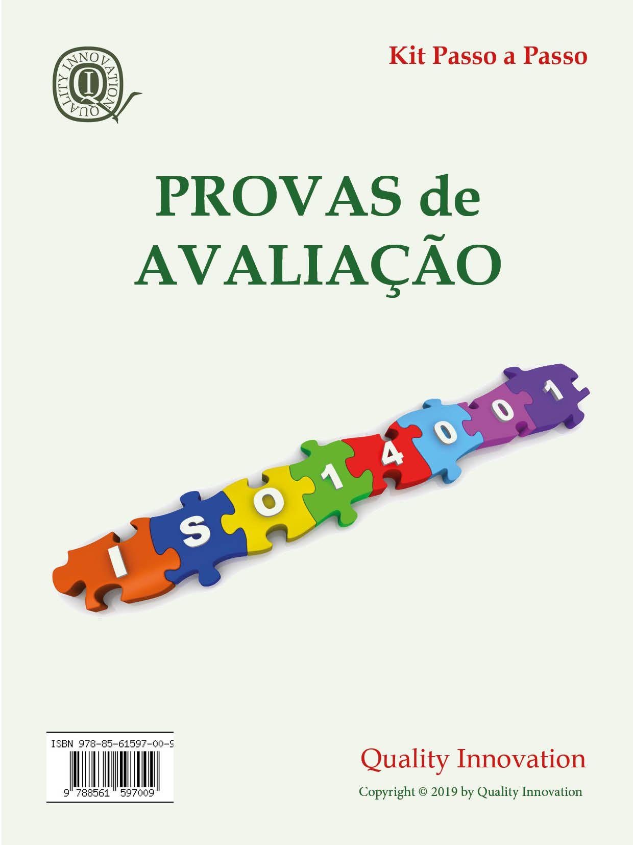 Provas de Avaliação da ISO 14001  - www.qualistore.net.br