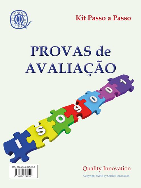 Provas de Avaliação ISO 9001:2015  - www.qualistore.net.br