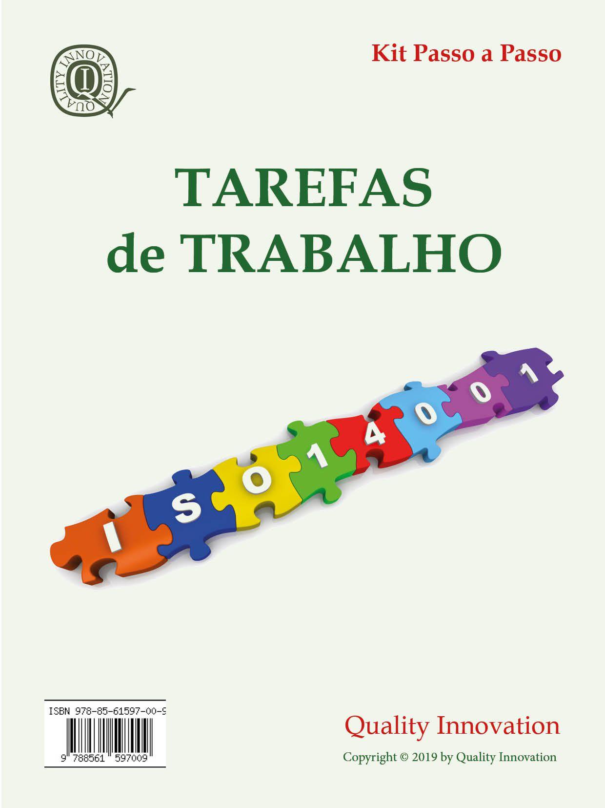 Tarefas de Trabalho da ISO 14001  - www.qualistore.net.br