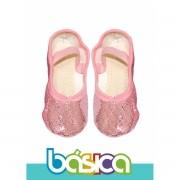 Sapatilha Para Ballet Rosa Brilho