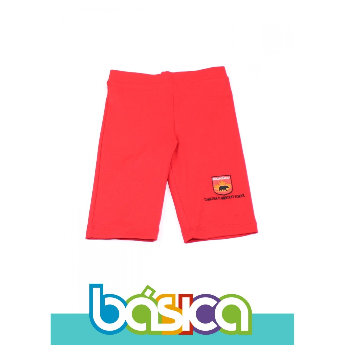 Bermuda Ciclista de Helanca Uniforme Maple Bear Fundamental  - BÁSICA UNIFORMES