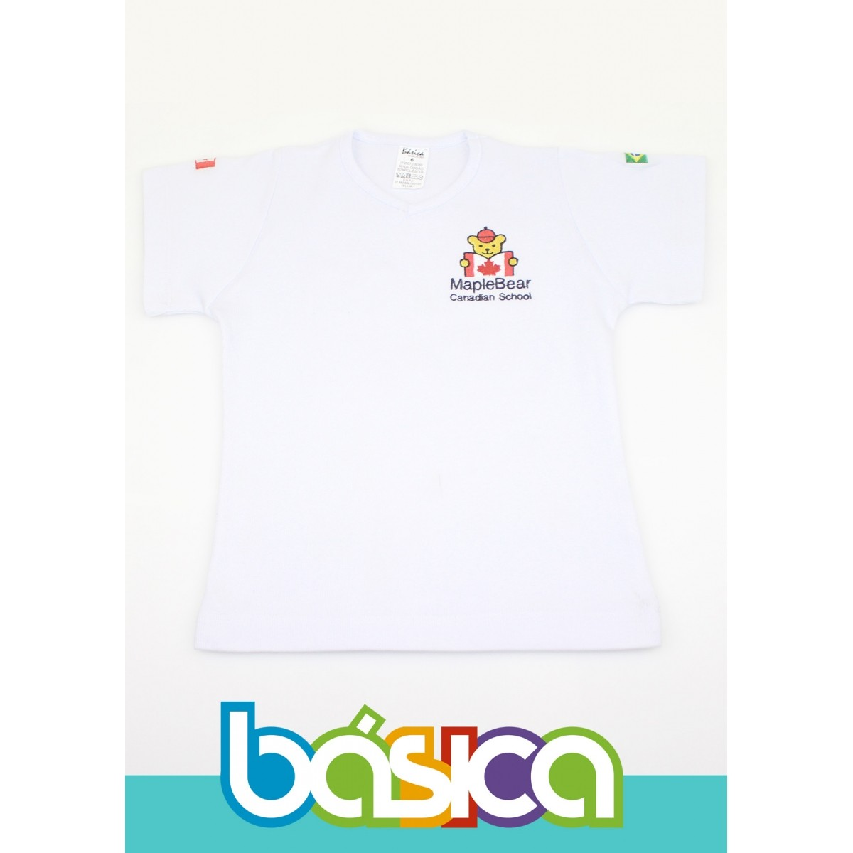 Camiseta Baby Look Canelada Maple Bear Infantil  - BÁSICA UNIFORMES