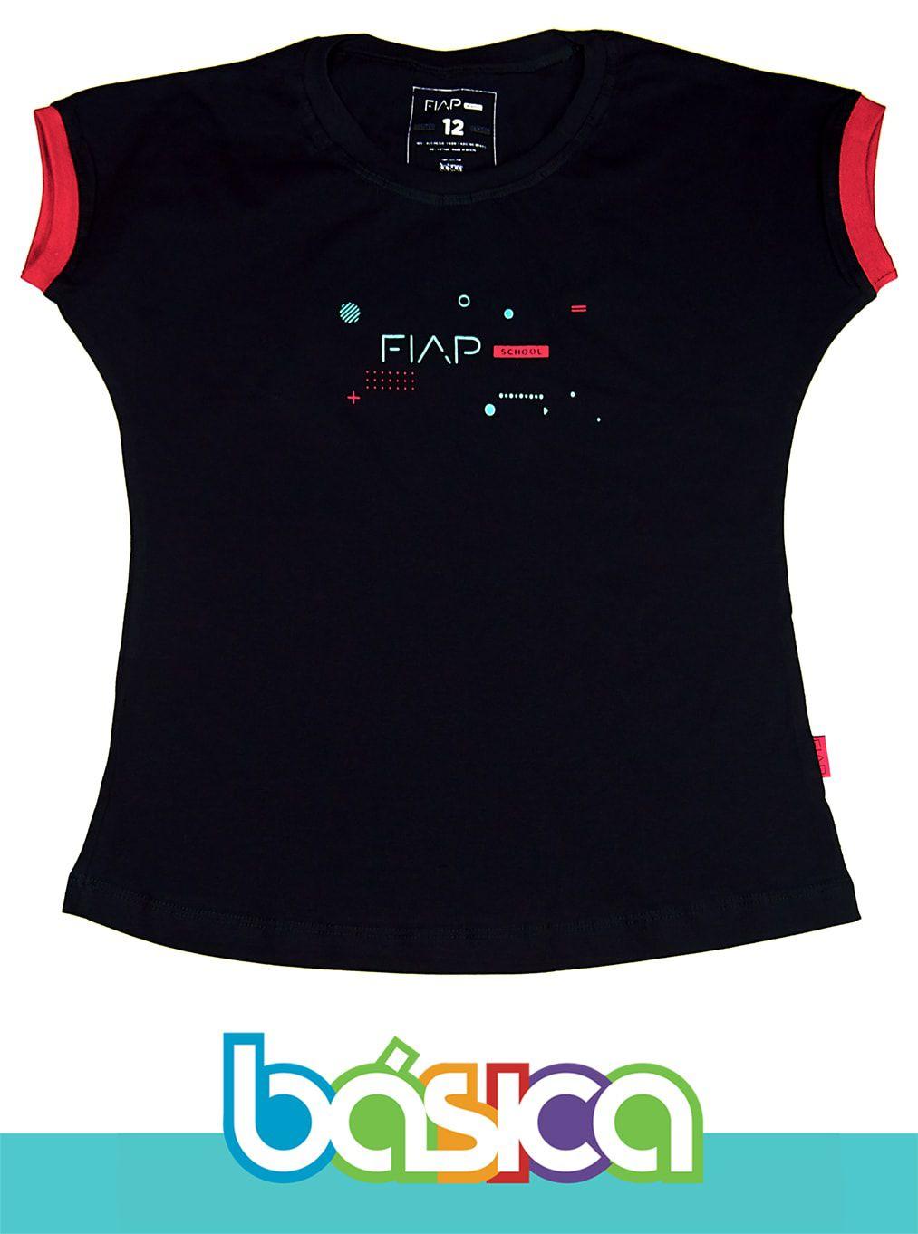 Camiseta M/C Feminina Preta