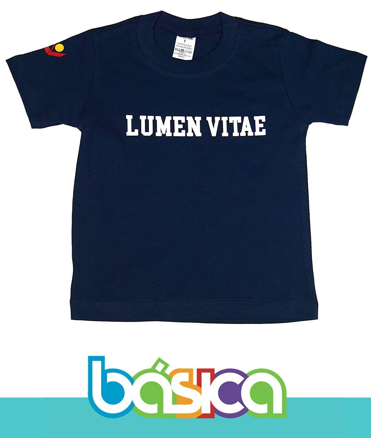 Camiseta Manga Curta Azul Lumen Vitae  - BÁSICA UNIFORMES
