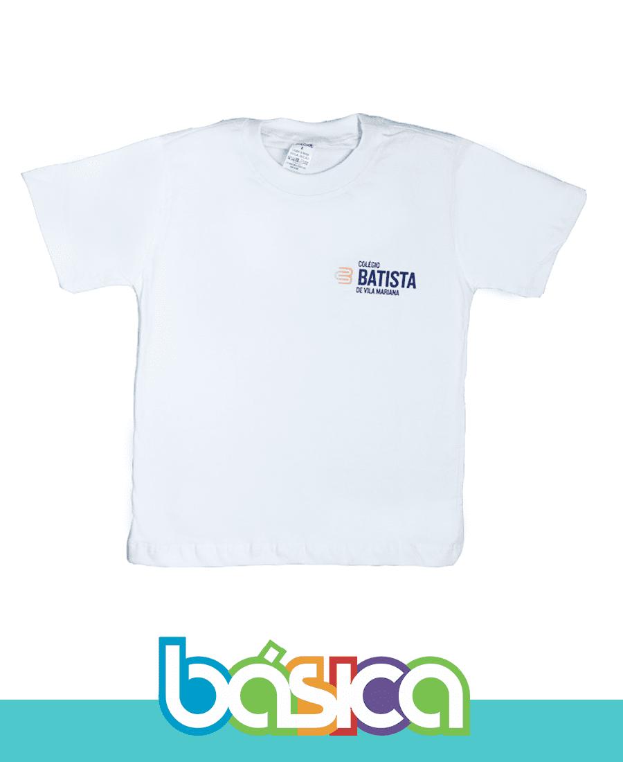 Camiseta Manga Curta Batista de Vila Mariana  - BÁSICA UNIFORMES