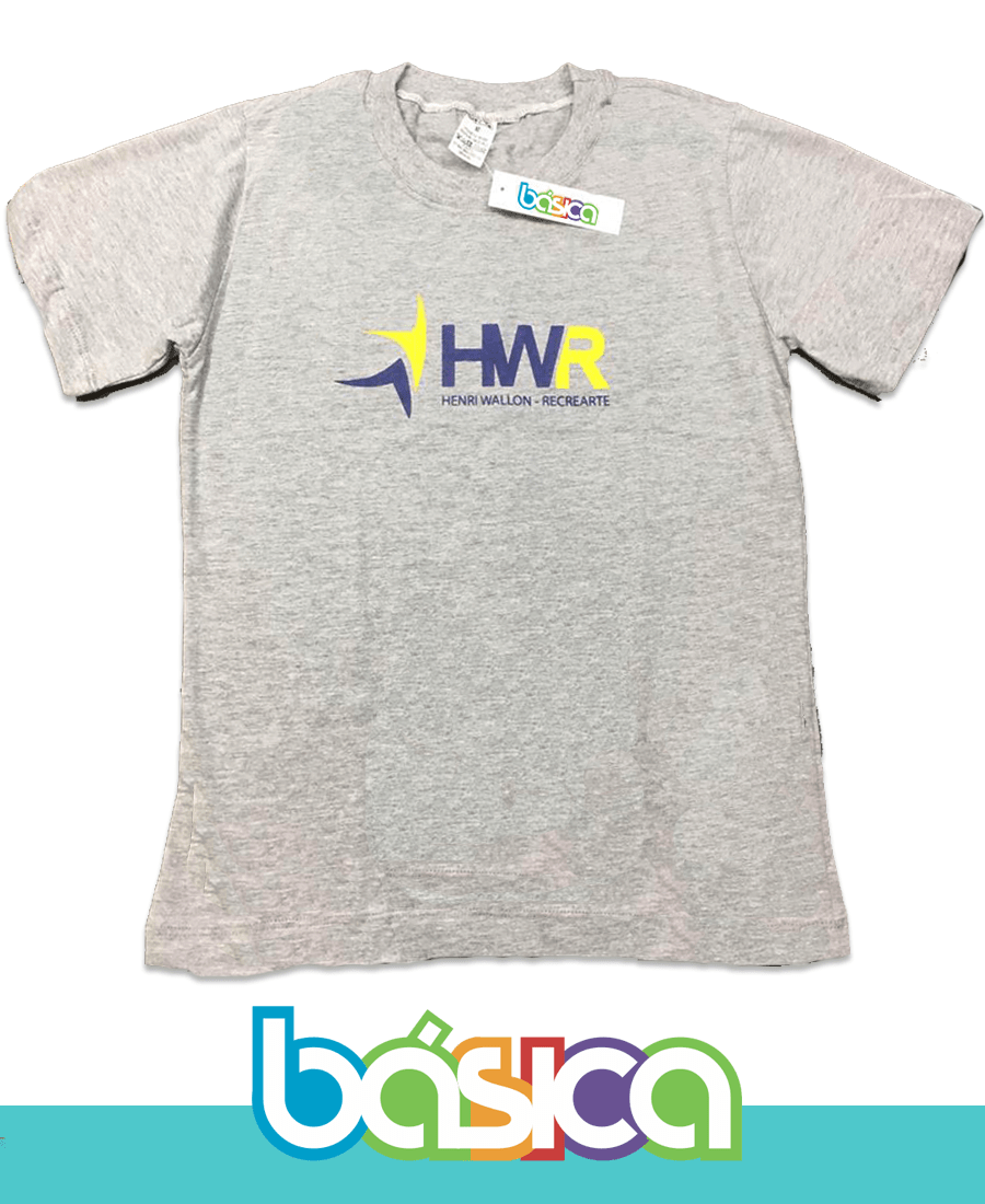 Camiseta Manga Curta Cinza Henri Wallon  - BÁSICA UNIFORMES