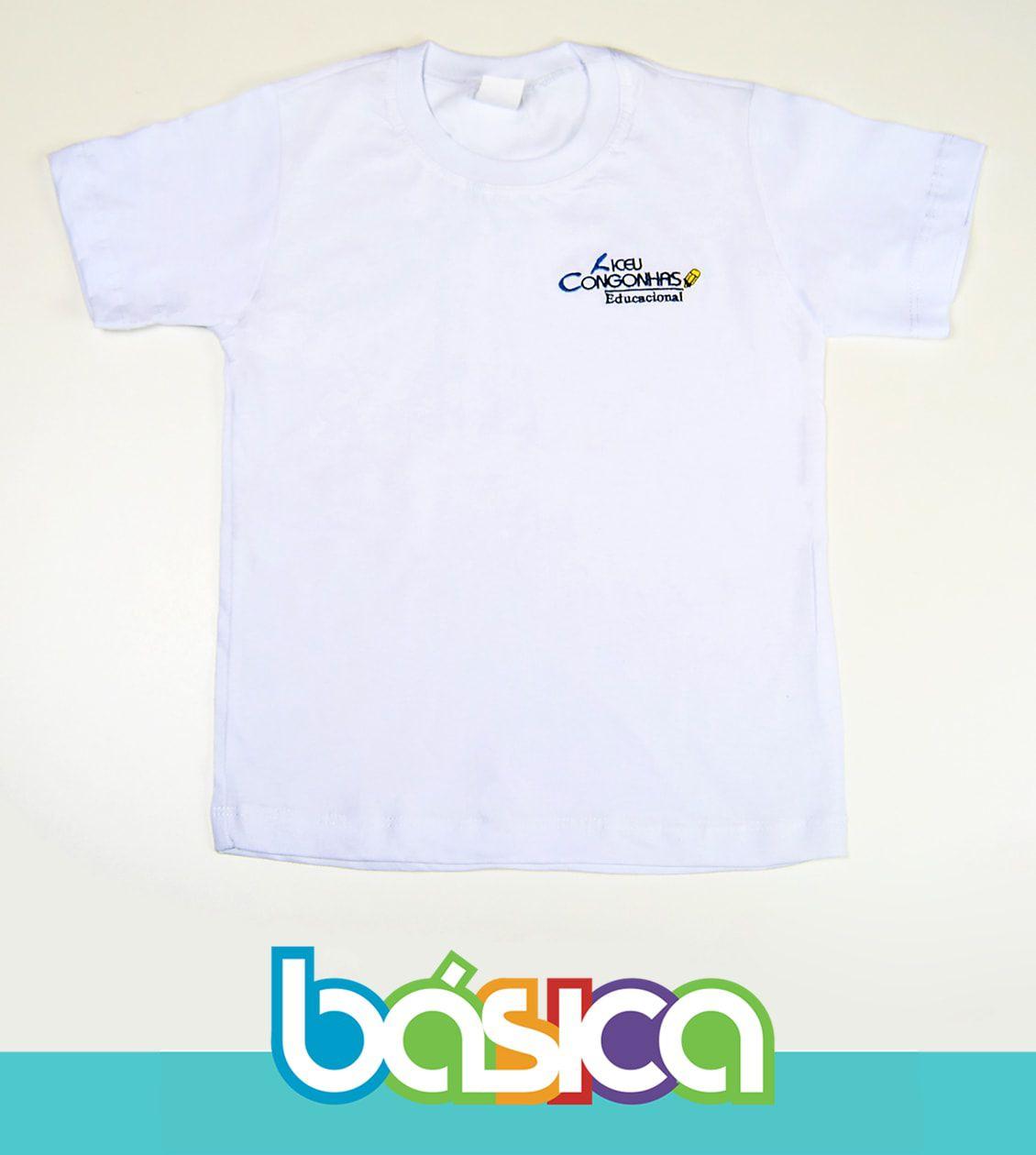 Camiseta Manga Curta Liceu Congonhas  - BÁSICA UNIFORMES