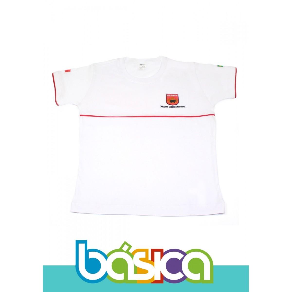Camiseta Manga Curta Maple Bear Fundamental  - BÁSICA UNIFORMES