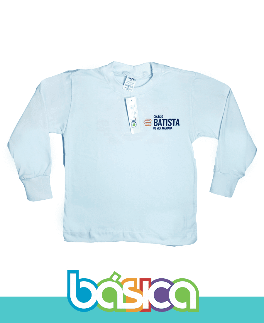 Camiseta Manga Longa Batista de Vila Mariana  - BÁSICA UNIFORMES