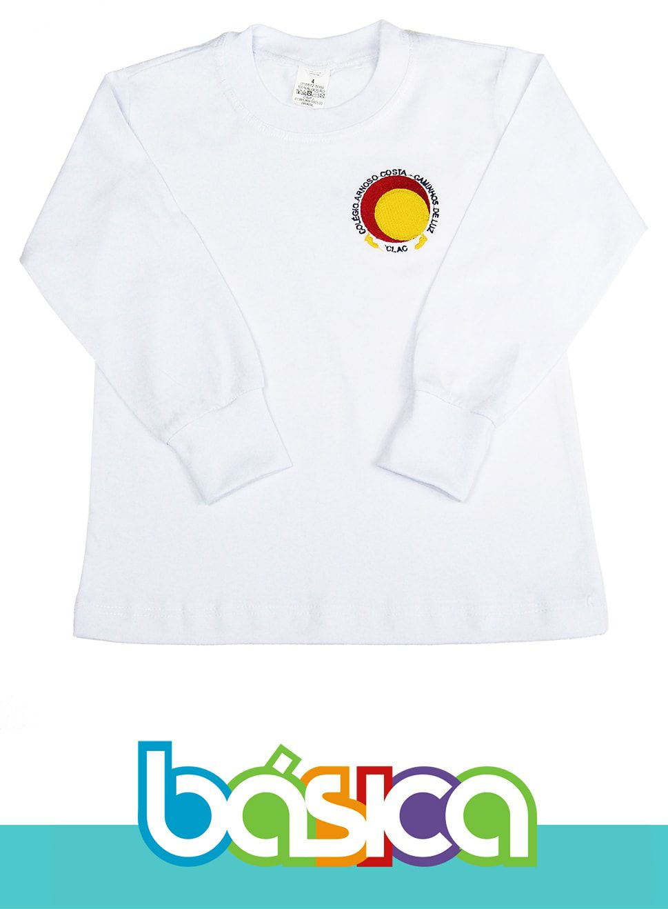 Camiseta Manga Longa Colégio Arnoso Costa  - BÁSICA UNIFORMES