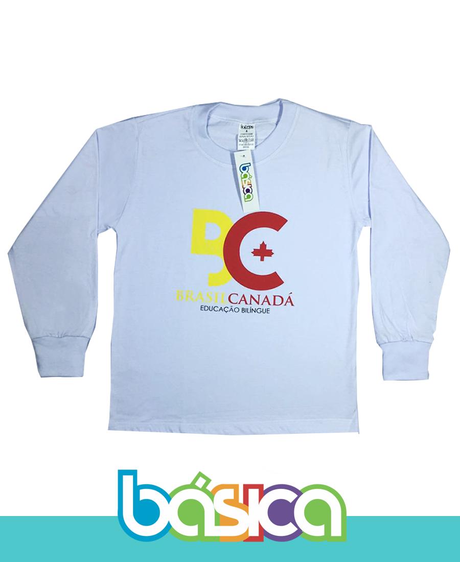 Camiseta Manga Longa Colégio Brasil Canadá  - BÁSICA UNIFORMES