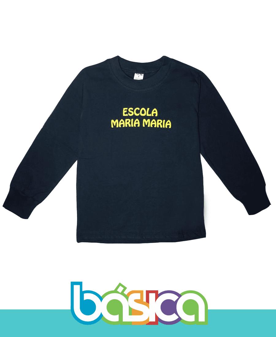 Camiseta Manga Longa - Maria Maria  - BÁSICA UNIFORMES