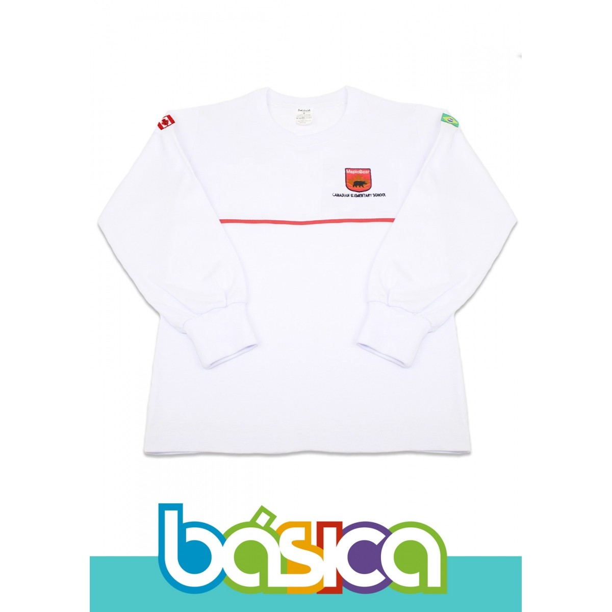 Camiseta Manga Longa Maple Bear Fundamental  - BÁSICA UNIFORMES