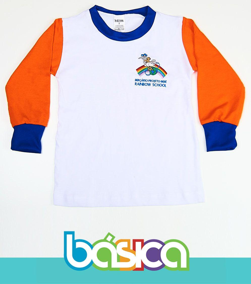 Camiseta Manga Longa Rainbow School  - BÁSICA UNIFORMES