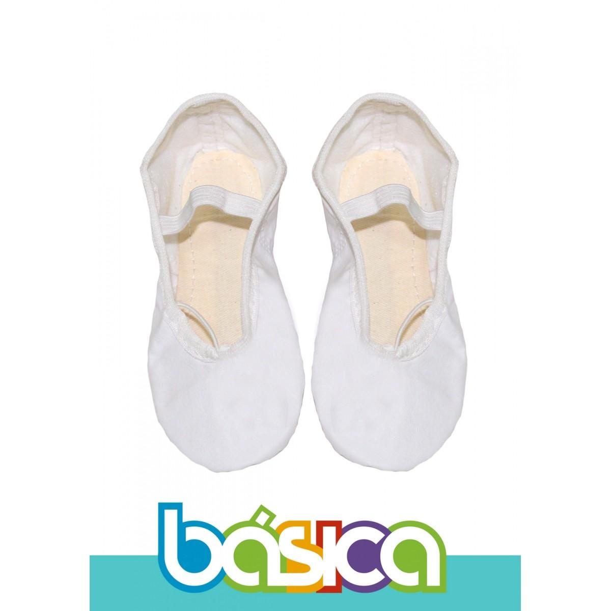 Sapatilha Para Ballet Branco Sintético  - BÁSICA UNIFORMES