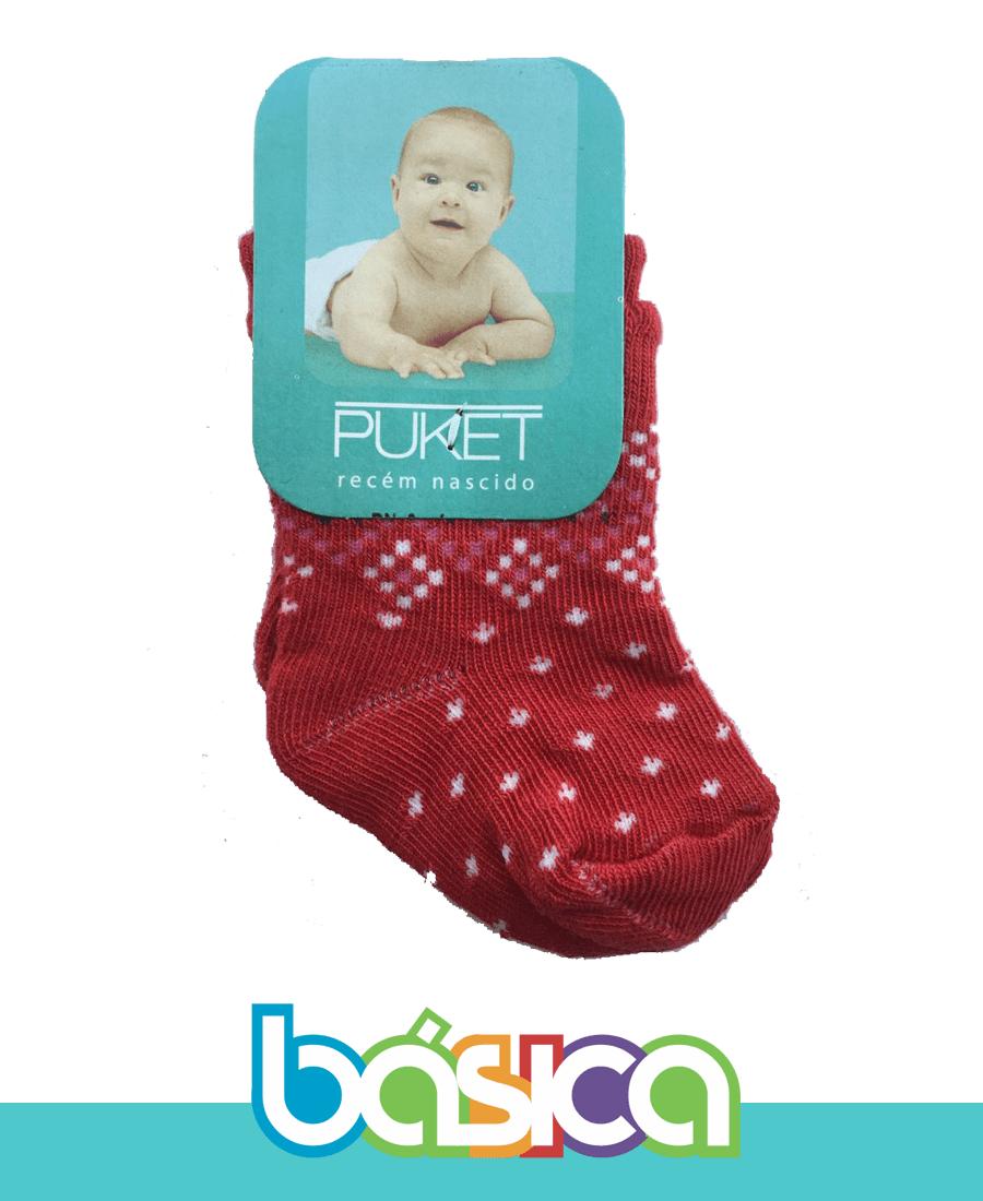 Meia Recém-Nascido Vermelha - Puket  - BÁSICA UNIFORMES