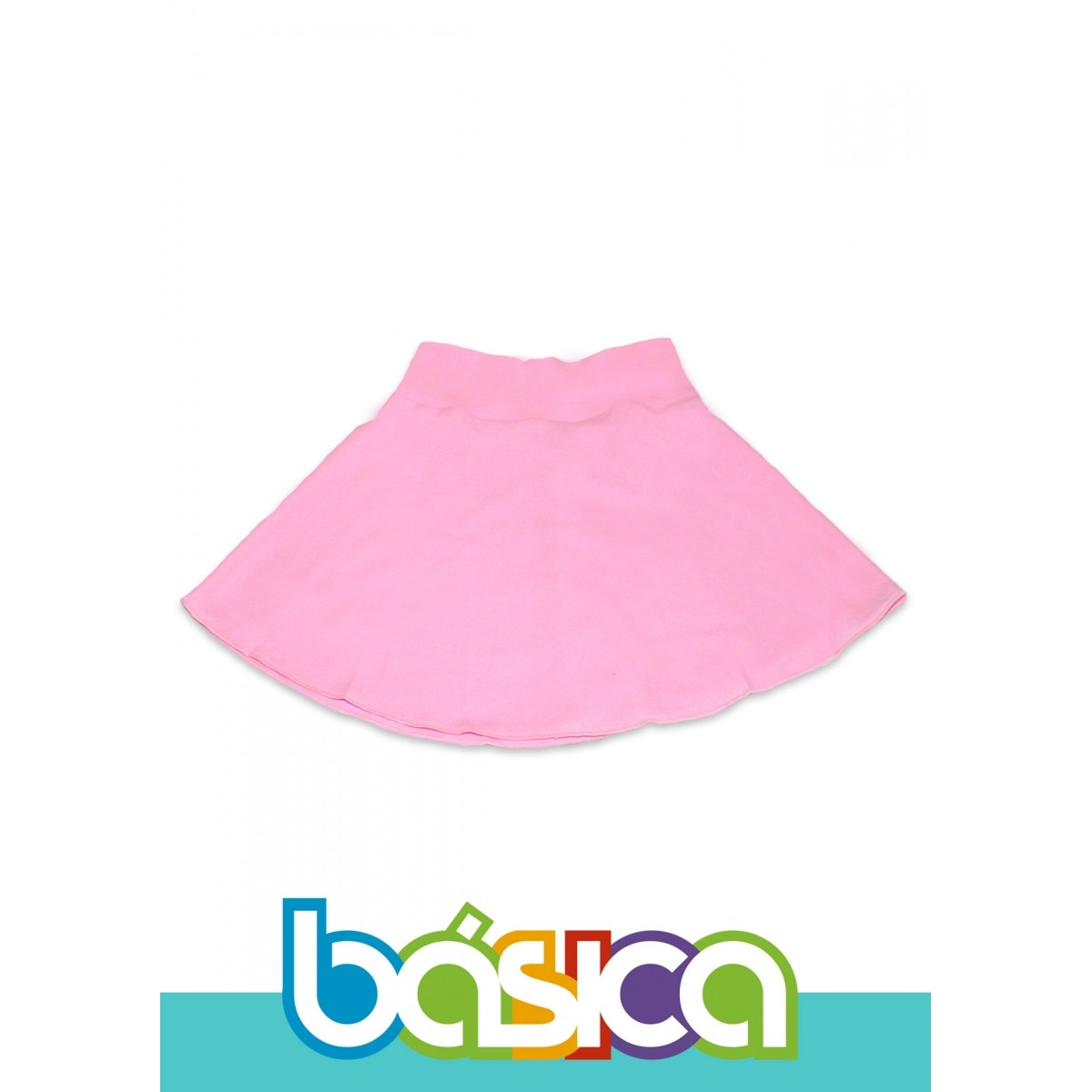 Saia Com Cós Para Ballet Infantil Rosa  - BÁSICA UNIFORMES