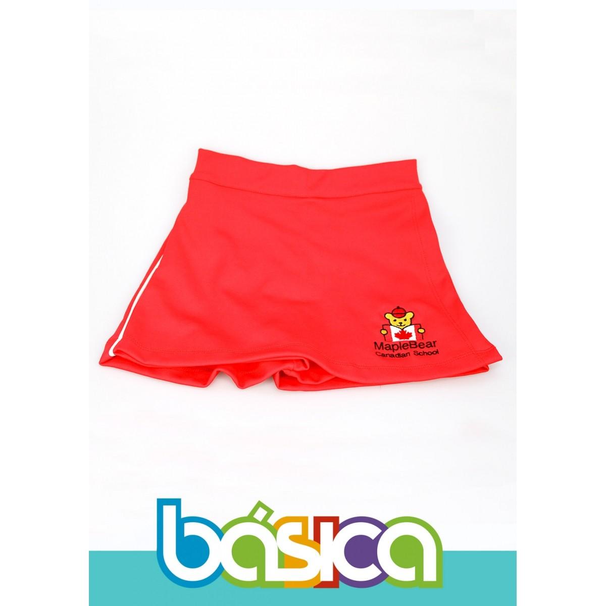 Shorts Saia Helanca Maple Bear Infantil  - BÁSICA UNIFORMES
