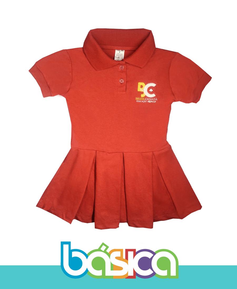 Vestido Colégio Brasil Canadá  - BÁSICA UNIFORMES
