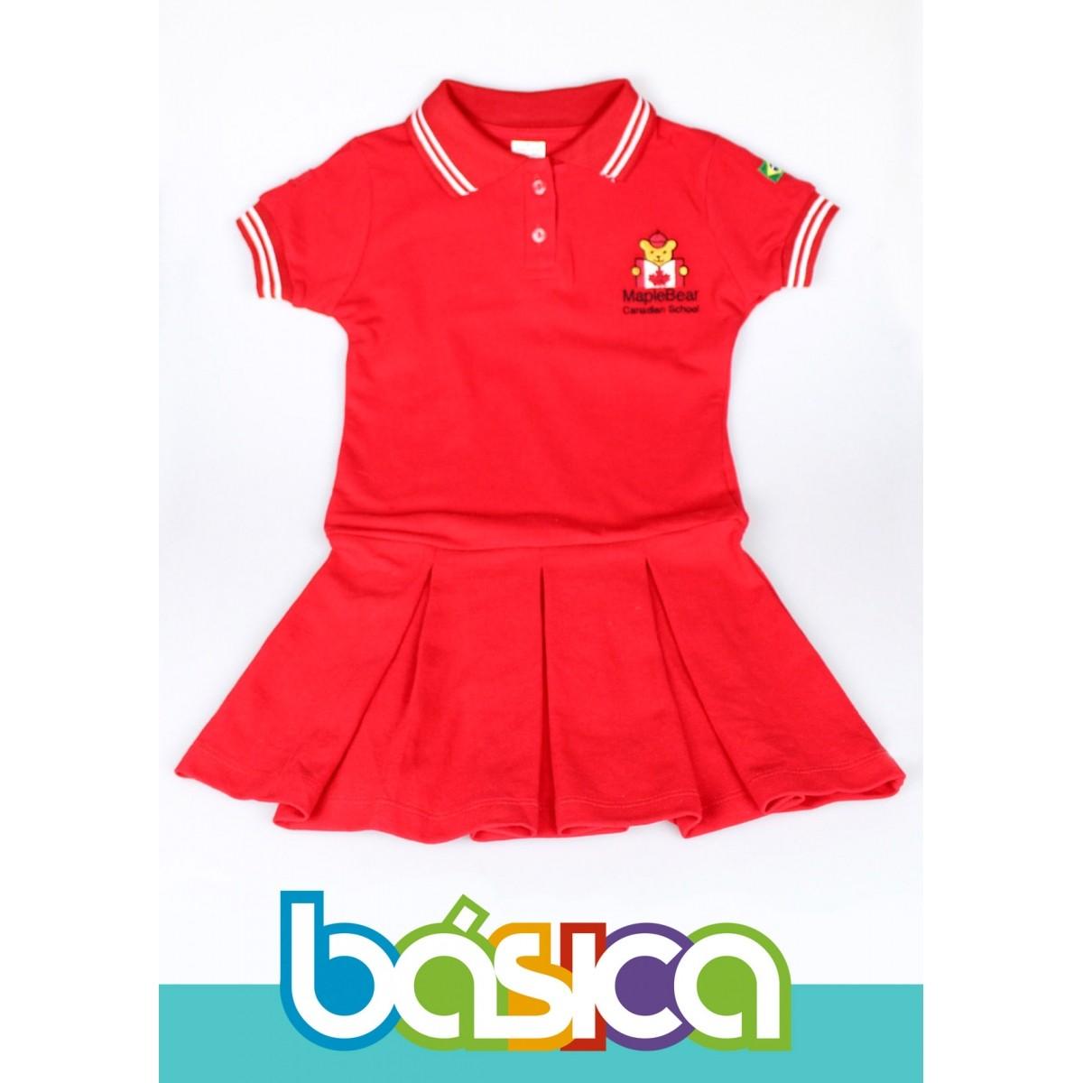 c85d9c83fa Vestido Maple Bear Infantil - BÁSICA UNIFORMES. Image description
