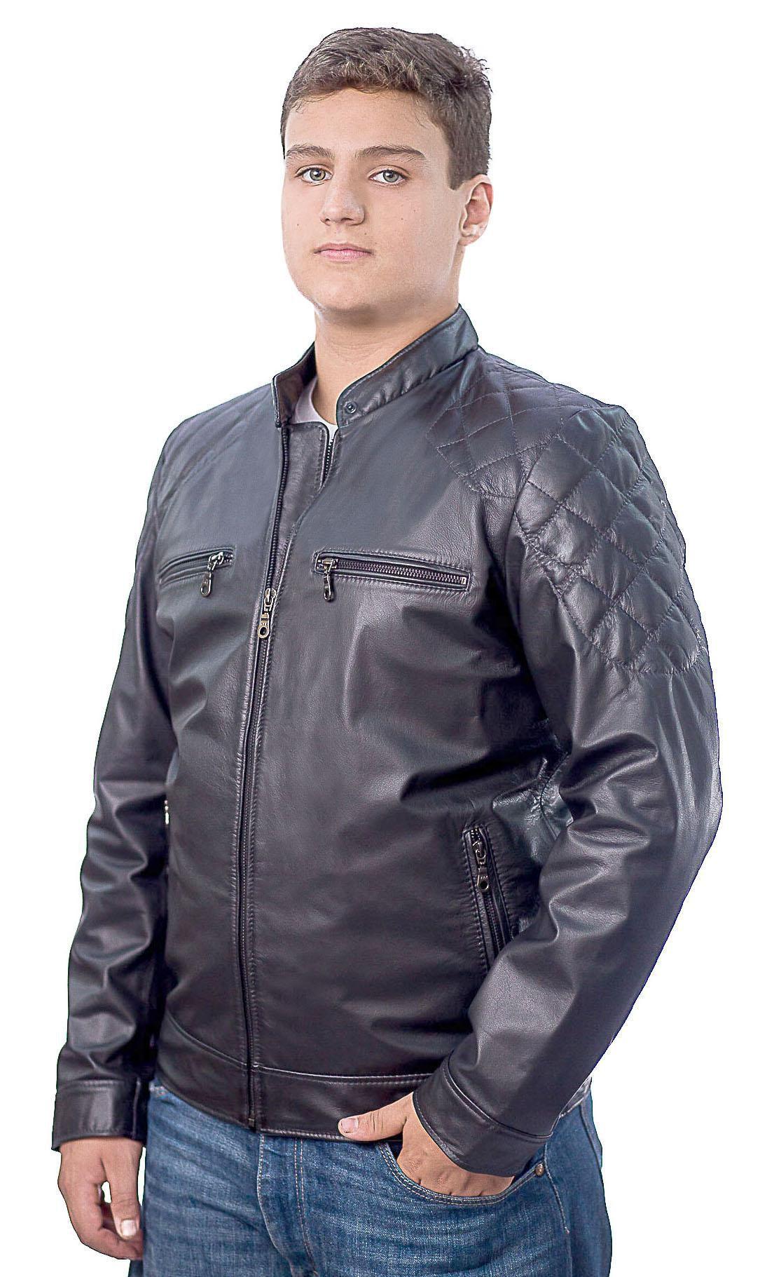 Jaqueta Masculina em Couro 356 Vest Preto