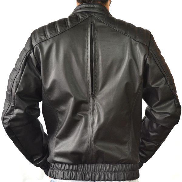 Jaqueta Motociclista Prata Couro 033 Preta
