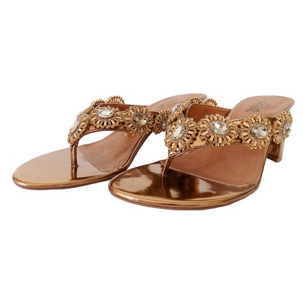 Sandália de Salto Spechio Bronze