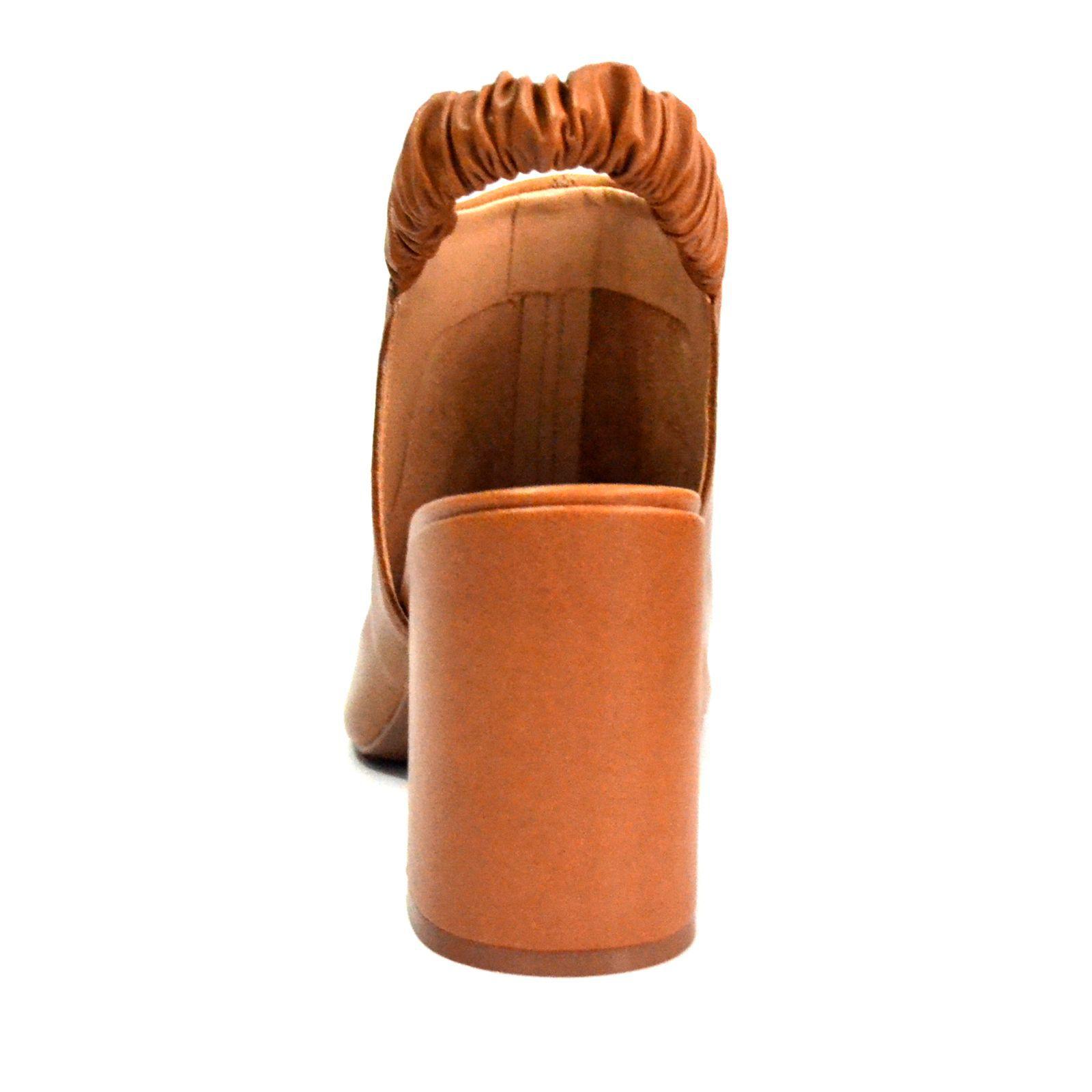 Sandália Prata Couro 1009506 Camel