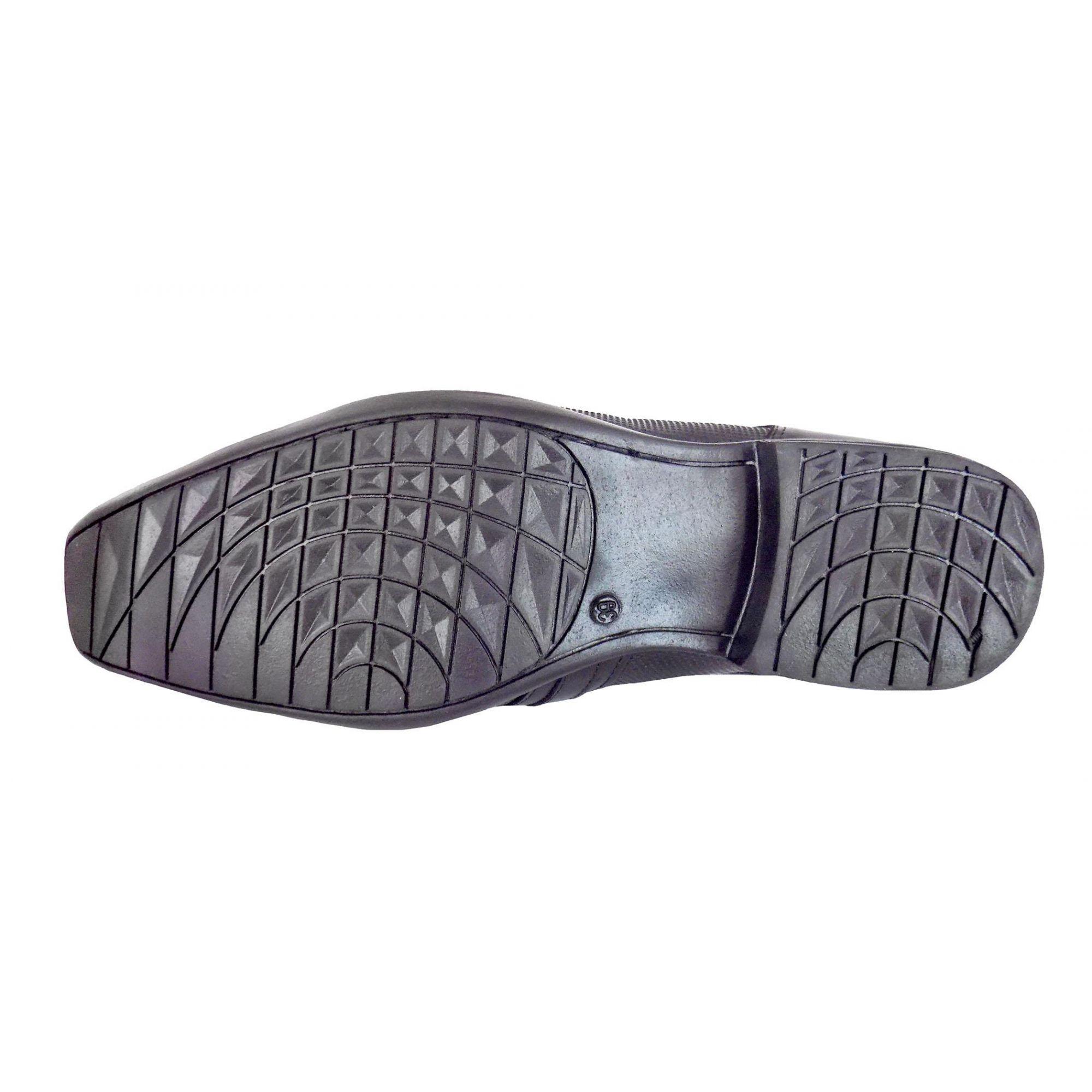 Sapato Prata Couro Roma 3000