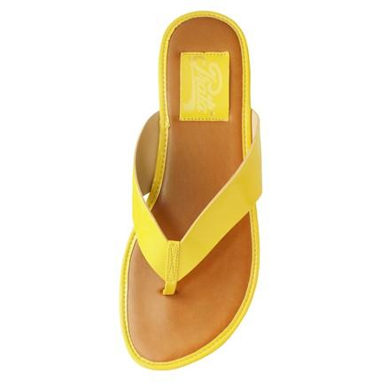 Tamanco Plataforma Verniz Amarelo