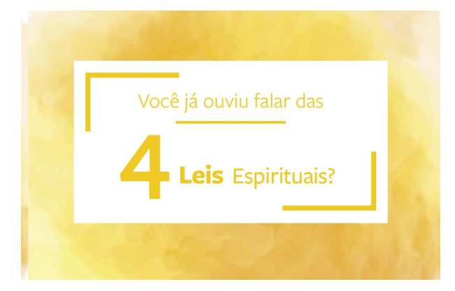 Quatro Leis Espirituais - Pacote com 25 unidades.