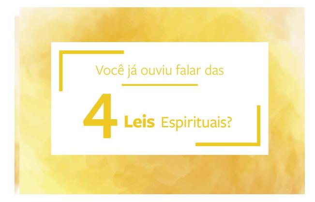 PROMOÇÃO - Quatro Leis Espirituais - Pacote com 25 unidades.