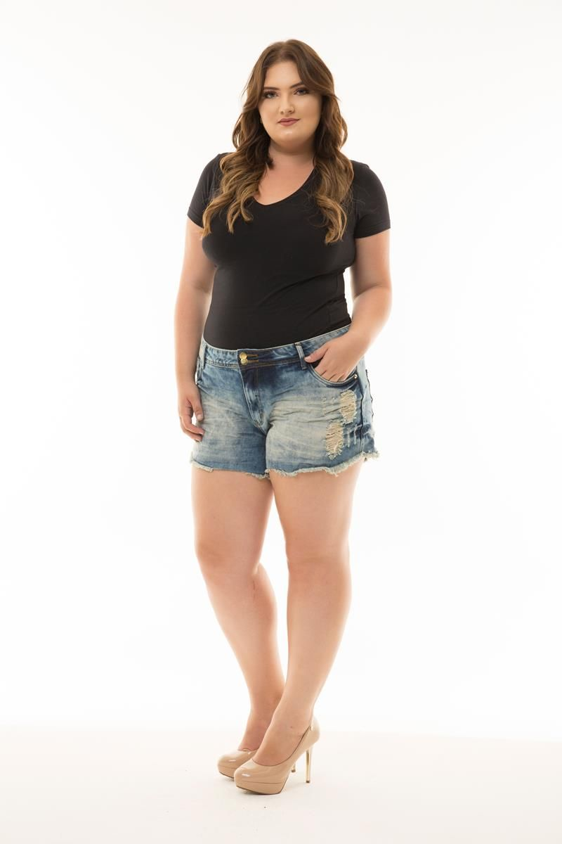 Shorts Plus Size jeans Luciana