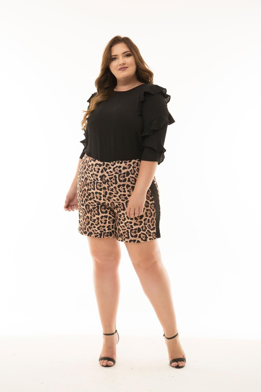 Shorts Plus Size onça