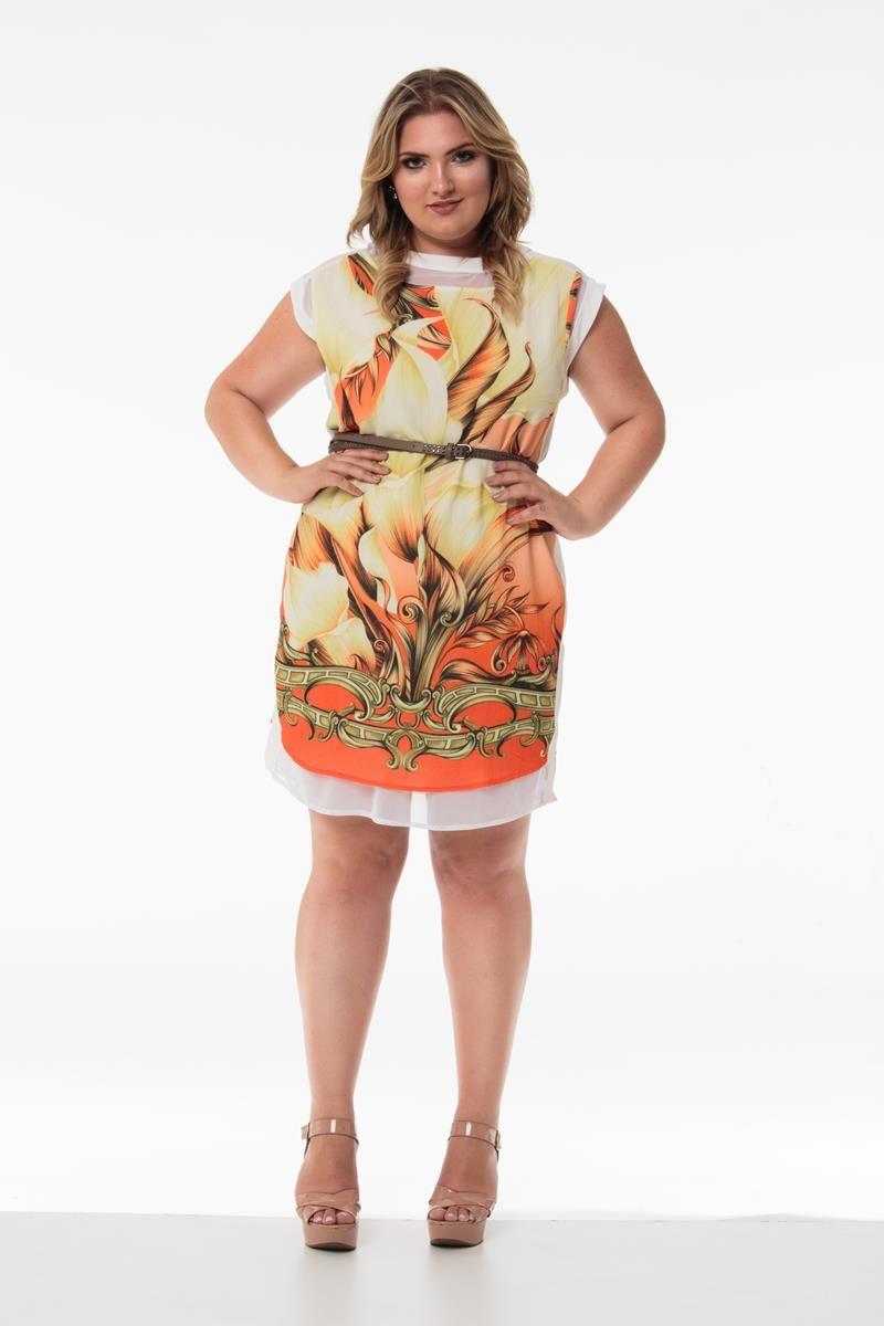Vestido Plus Size Jade laranja