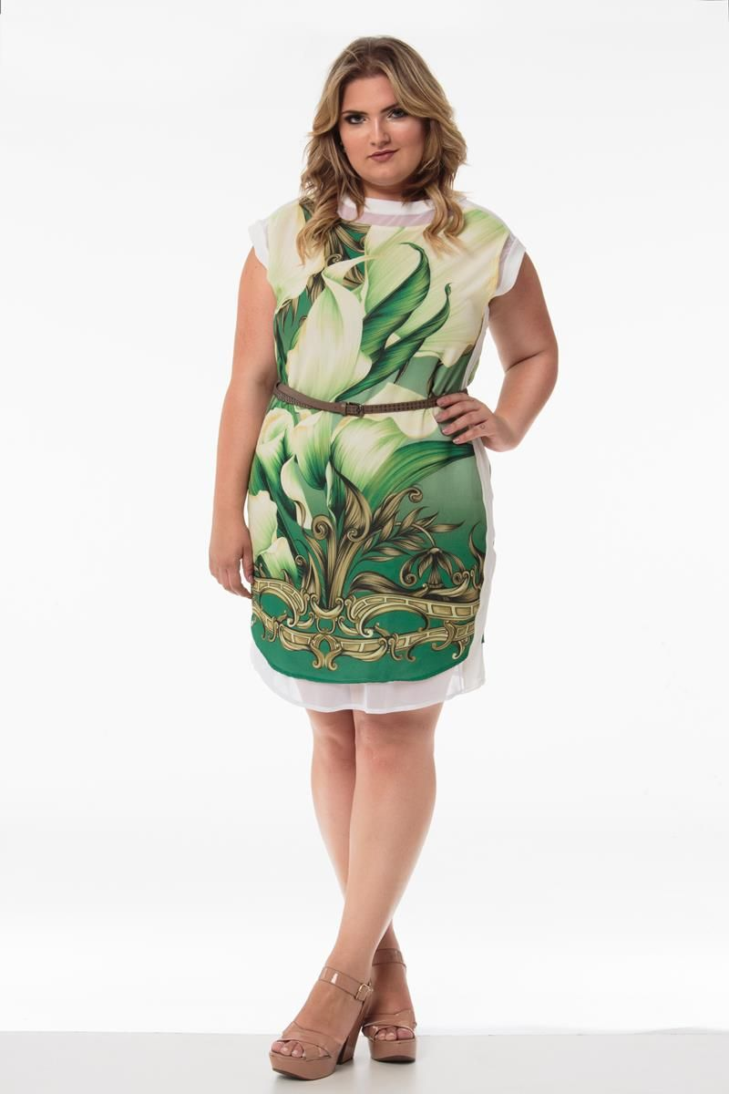 Vestido Plus Size Jade verde