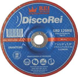 """DISCO DESBASTE  (DD) REI  7"""" GRÃO 36"""
