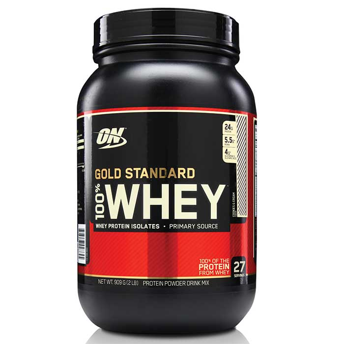100% Whey - 909g - Sabor Chocolate - Optimum Nutrition 28 + 6 porções free